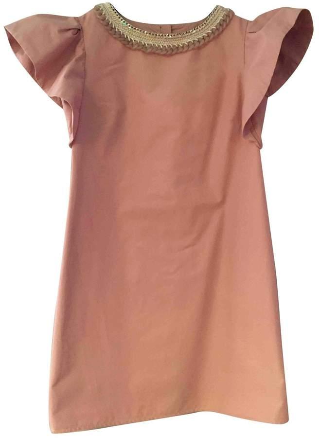Betty Blue Beige Cotton - elasthane Dress for Women
