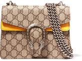 Gucci Dionysus Mini Coated-canvas And Suede Shoulder Bag - Beige