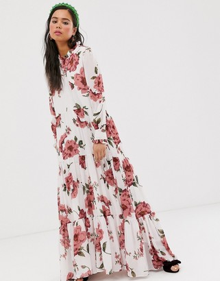 Sister Jane tiered maxi dress in vintage floral-White
