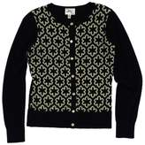 Milly Black & Beige Buttoned Cashmere Cardigan