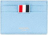 Thom Browne stripe trim card holder - men - Calf Leather - One Size