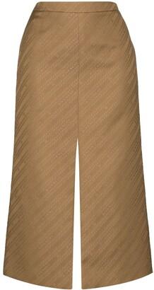 Givenchy Chain Logo-Print Pencil Skirt