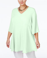 Melissa McCarthy Trendy Plus Size V-Neck Peplum Top