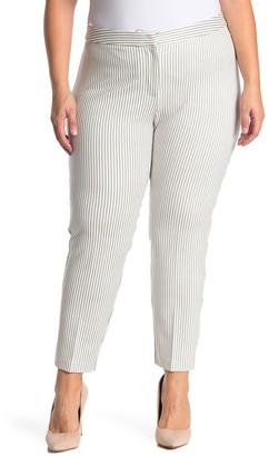 Amanda & Chelsea Stripe Ponte Knit Pants (Plus Size)