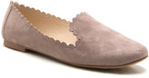 Qupid Taupe Scallop-Edge Loafer