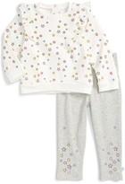 Infant Girl's Rosie Pope Star Ruffle Sweatshirt & Leggings Set