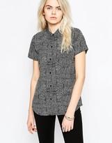 RVCA Squiggle Print Short Sleeve Shirt