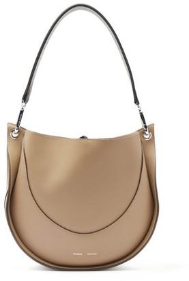 Proenza Schouler Hobo Small Leather Shoulder Bag - Grey