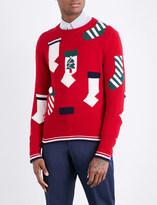 Thom Browne Holiday Stockings wool jumper