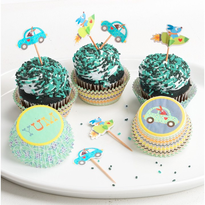 Twos Company Two's Company Happi by Dena Cupcake Party Kit - 48-Piece Set