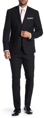 Perry Ellis Charcoal Stripe Two Button Notch Lapel Very Slim Fit Suit