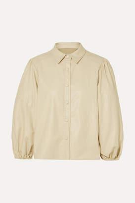 BEIGE Frankie Shop - Leandra Faux Leather Shirt
