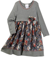 Iris & Ivy Stripe Knit Empire To Print Dress (Little Girls)