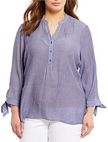 Westbound Plus Tie Sleeve Top