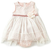 Rare Editions Baby Girls 12-24 Months Lace/Mesh A-Line Dress