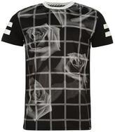 Fabric Rose Grid T Shirt Mens