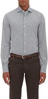 Isaia Men's Tattersall Cotton Poplin Shirt-GREY
