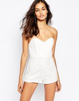 Stone_Cold_Fox Stone Cold Fox Folsum Romper in White Star Embroidery