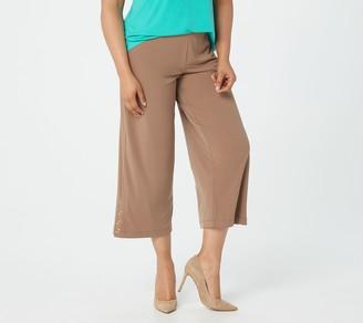 Susan Graver Regular Liquid Knit Pull-on Crop Pants
