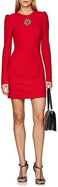 Dolce & Gabbana Women's Heart-Appliquéd Cady Dress - Red