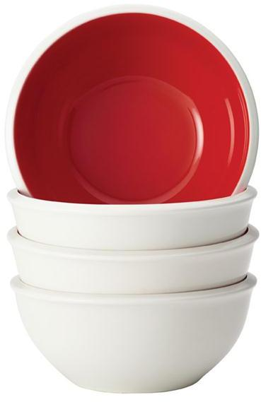 Rachael Ray 4-pc. Rise Cereal Bowl Set, Red