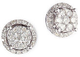 Effy Diamond and 14K White Gold Stud Earrings, 0.49TCW