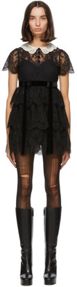Gucci Black Lace Babydoll Dress