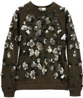 Lanvin Embellished cotton-jersey sweatshirt