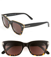 Tom Ford Women's Retro Inspired 50Mm Sunglasses - Black/ Havana/ Brown