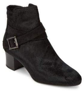 Aquatalia Francique Calf Hair Ankle Boots