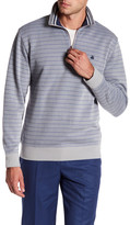 Brooks Brothers Striped Knit Half Zip Pullover