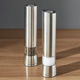Crate & Barrel Cole & Mason ® Hampstead Electric Salt and Pepper Mills with Light