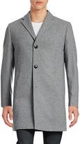 Black Brown 1826 Wool-Blend Overcoat