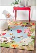 nuLoom Handmade Kids Animal Farm Wool Rug (5' x 7')