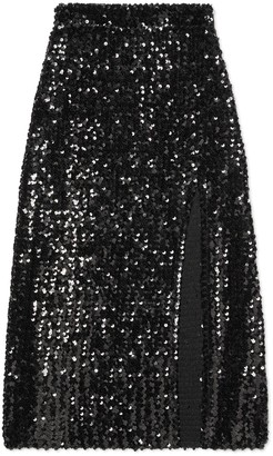 Gucci Sequin embroidered skirt with slit