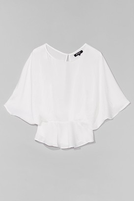 Nasty Gal Womens The Keyhole to Success Batwing Blouse - White