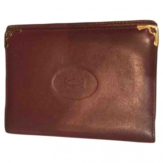 Cartier Burgundy Leather Purses, wallets & cases
