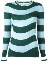 Fendi wavy jumper - women - Nylon/Polyester/Cashmere - 40
