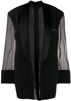 Balmain layered tuxedo lapel mini dress