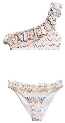 Missoni Multicolor Zigzag Two-Piece One-Shoulder Bikini