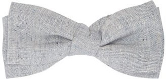 Comme Les Loups - Doesburg Cotton Chambray Bow Tie - Mens - Blue