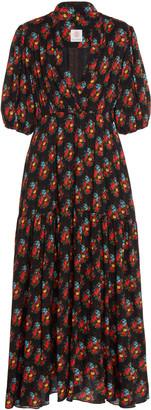Gül Hürgel Floral-Print Crepe Midi Dress