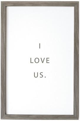 """Petal Lane """"I Love Us"""" Magnet Board With Vintage Frame, 32""""x24"""""""