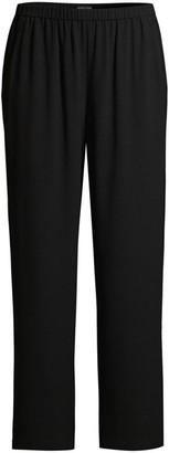 Eileen Fisher Silk Straight-Leg Pants