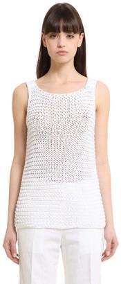 Calvin Klein Collection Cotton Knit Tank Top