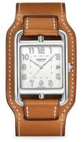 Hermes Watches Cape Cod, Stainless Steel & Leather Strap Watch