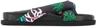 Kenzo Padded-Strap Floral Slides