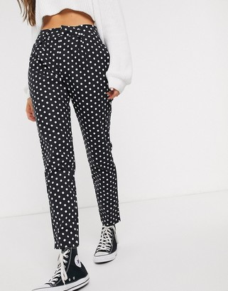 Daisy Street cigarette pants in polka dot