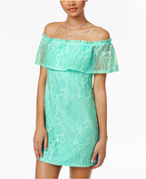 Speechless Juniors' Lace Off-The-Shoulder Dress, A Macy's Exclusive
