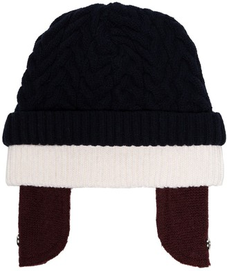 Sunnei Layered-Effect Beanie Hat